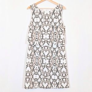 BANANA REPUBLIC Snake Print Blouson Shift Dress